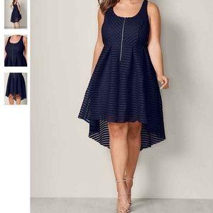 High low zip detail dress!